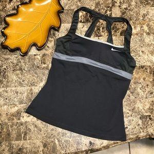Nike Dry-fit athletics grey built-bra tank top M